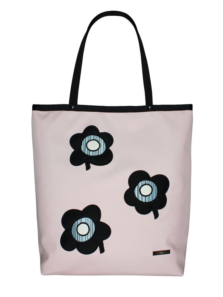 Shopper bag flowers (pink) - GOSHICO