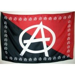 Bandera Anarquista Rojinegra  Bandera Anarquista Rojinegra. Dimensiones aproximadas 145 cm. X 95 cm. Tamaño grande, calidad material poliéster, peso aproximado 105 gramos.