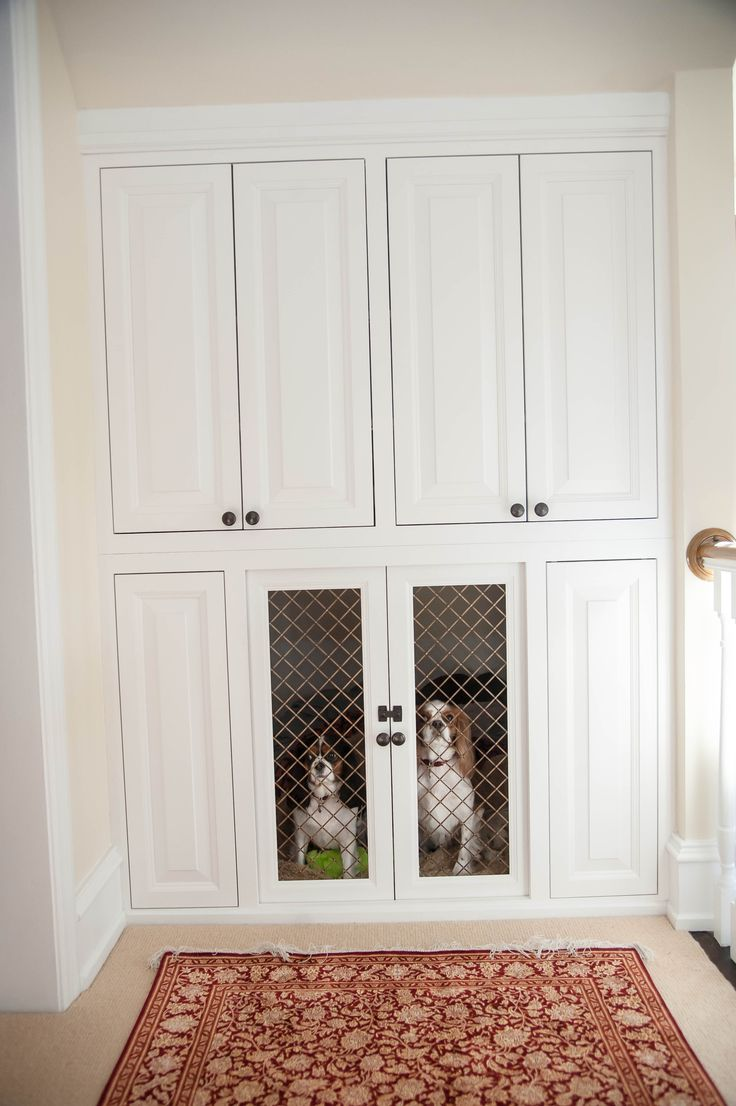 Custom built in dog kennel Pets Pinterest