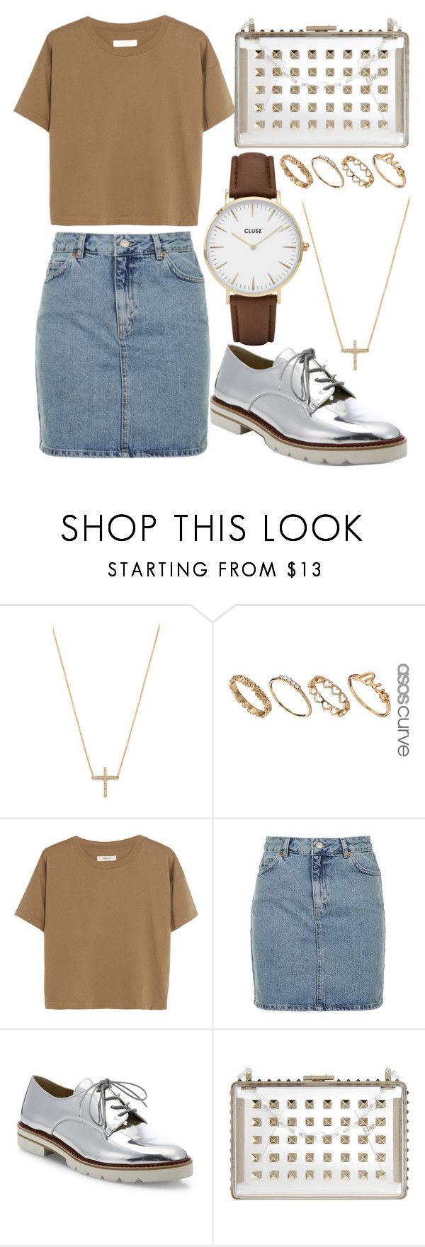 """""""309."""" by plaraa on Polyvore featuring Jennifer Meyer Jewelry, ASOS, Madewell, Topshop, Stuart Weitzman, Valentino and CLUSE"""