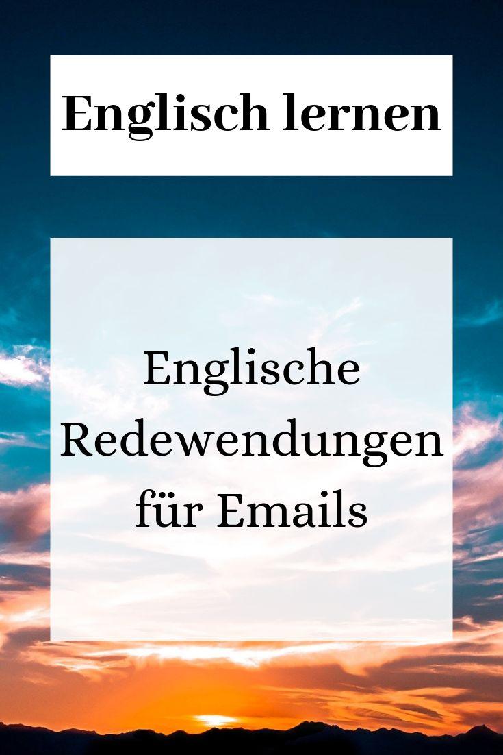 Englisch lernen: Redewendungen für Emails