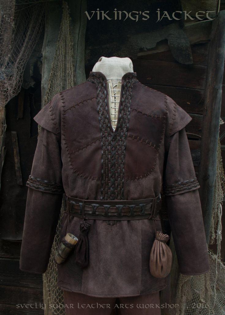 Viking Leather Jacket (inspired Ragnar Lothbrok) / L size / LARP equipment / style fantasy  by SvetliySudarWorkshop on Etsy https://www.etsy.com/no-en/listing/386692470/viking-leather-jacket-inspired-ragnar