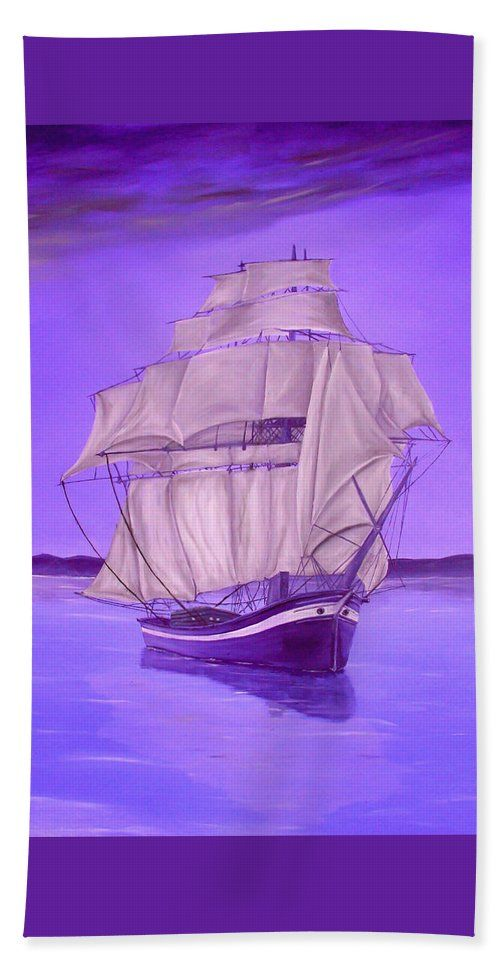 Bath Towel,  home,accessories,bathroom,unique,fancy,cool,trendy,artistic,beautiful,awesome,modern,fashionable,for,sale,decor,unusual,design,items,products,ideas,purple,lavender,nautical,sailboat,marine