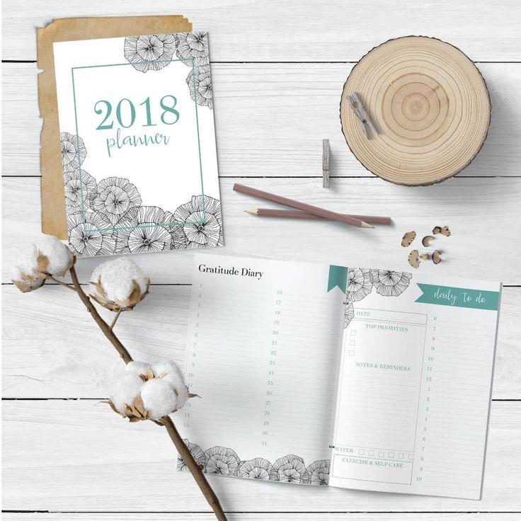 Printable Calendar, Gratitude Journal and Habit Tracker