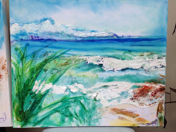 View from Greenmount. Mixed media. $350 (800 x 500 mm) email sam@sambeaupatrick.com