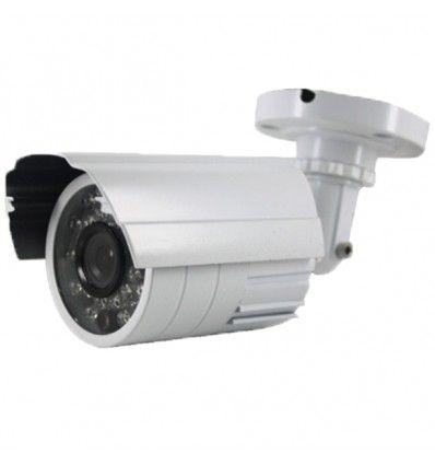 Caméra tube de surveillance infrarouge 20m blanche