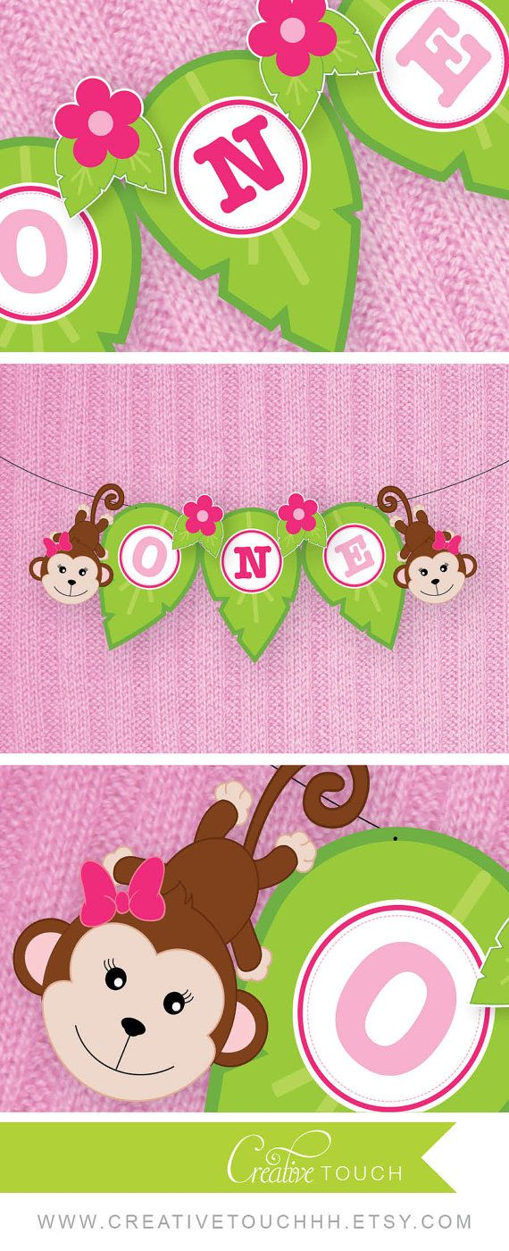 Jungle Birthday Banner Jungle High Chair Banner by CreativeTouchhh