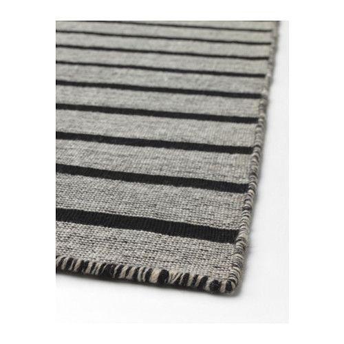 RASKMÖLLE Rug, flatwoven, black handmade black