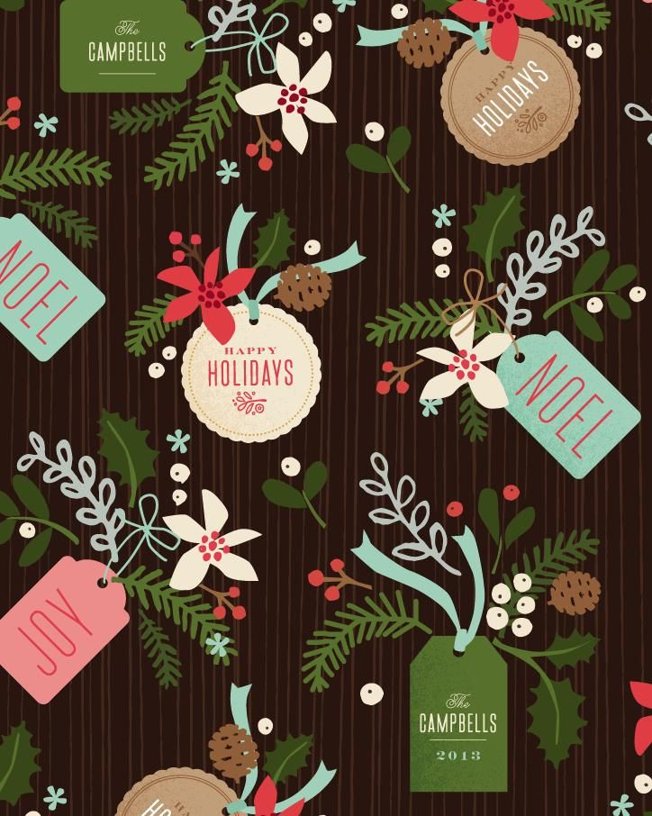 gift wrap - Winter pines at Minted.com