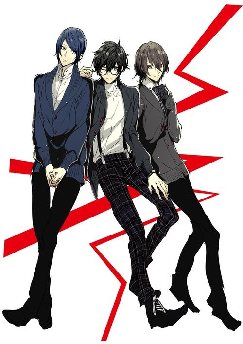 Persona 5, protagonist, Akira Kurusu,  Yusuke, Akechi