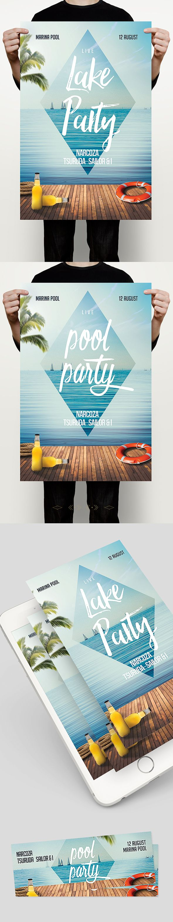 Summer Party Flyer on Behance