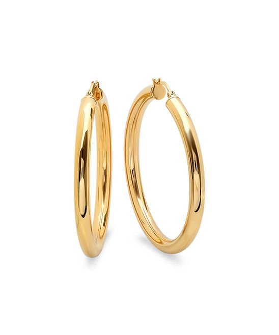 Best 25+ Gold hoop earrings ideas on Pinterest | Hoop ...