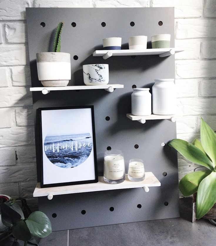 Another paint job for the @taubmans 'Grey Moggy' ! The Kmart Pegboard ! #kmartaus #kmartstyling #getinspiredshare #kmarthack #kmartlove #sharemystyle #pocketofmyhome #thebargaindiaries #sohcandle #targetaus #bigw #littlebrickhomestyle #inspired #interiordesign #interiorstyling #diy #thediydecorator #agave #grey #designsbywinston #concretehomewares by littlebrickhome March 22 2016 at 02:14AM
