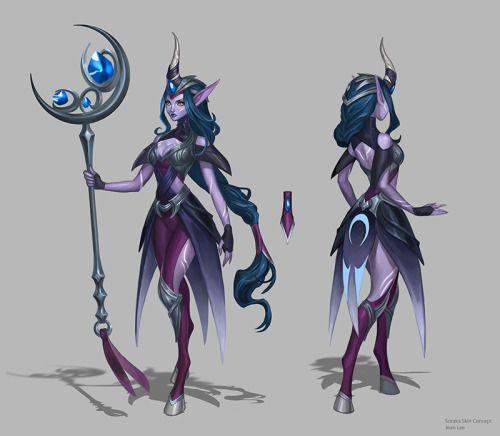 Midnight Soraka skin concept by reddovey