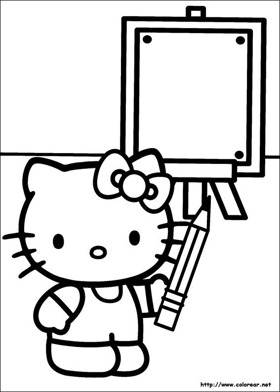 smart hello kitty coloring pages-#13