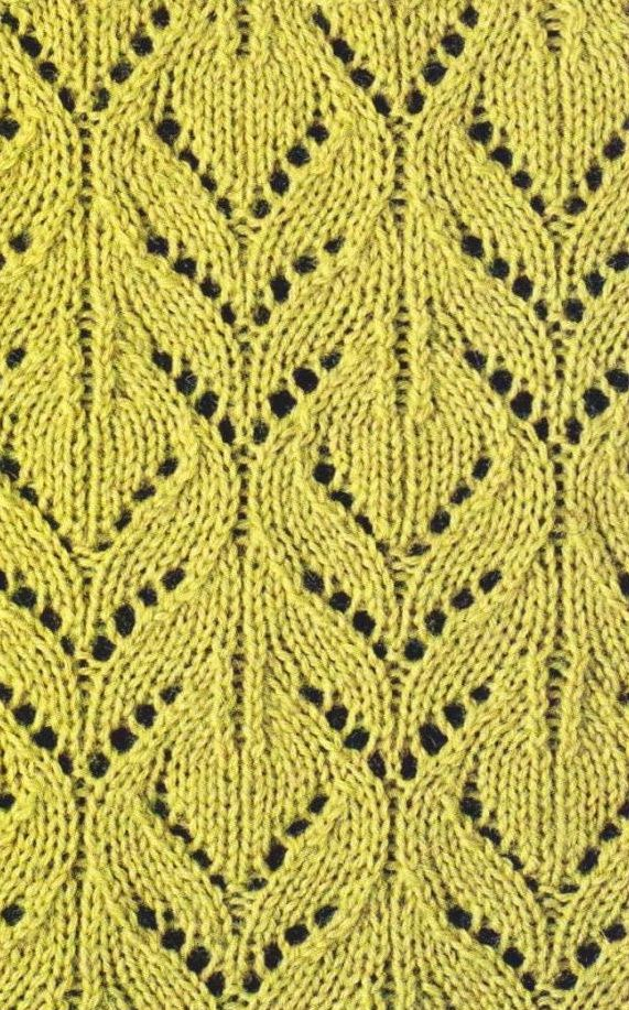 Knitting Stitches Lace Simple : 17 Best images about yarn inspiration: knit stitch patterns on Pinterest Ri...
