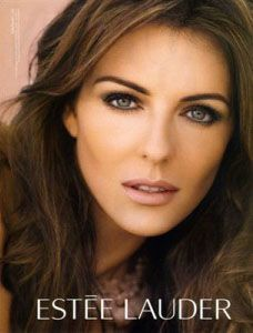 Estee Lauder ads with liz hurley. so pretty. she has great style.