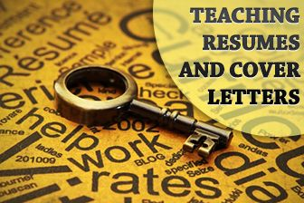 Getting to First Base: Teaching Resumes and Cover Letters