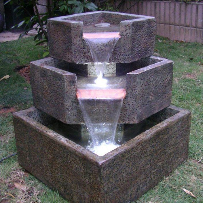 Die besten 25+ Gartenbrunnen mit beleuchtung Ideen auf Pinterest - gartenbrunnen modernes design