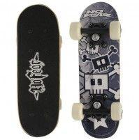 No Fear Micro 'Black Skull 2' Skateboard für Kinder