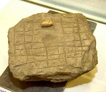The viking Hnefatafl gaming board found on the Brough of Deerness this summer. (The Orcadian/Orkney Media Group)