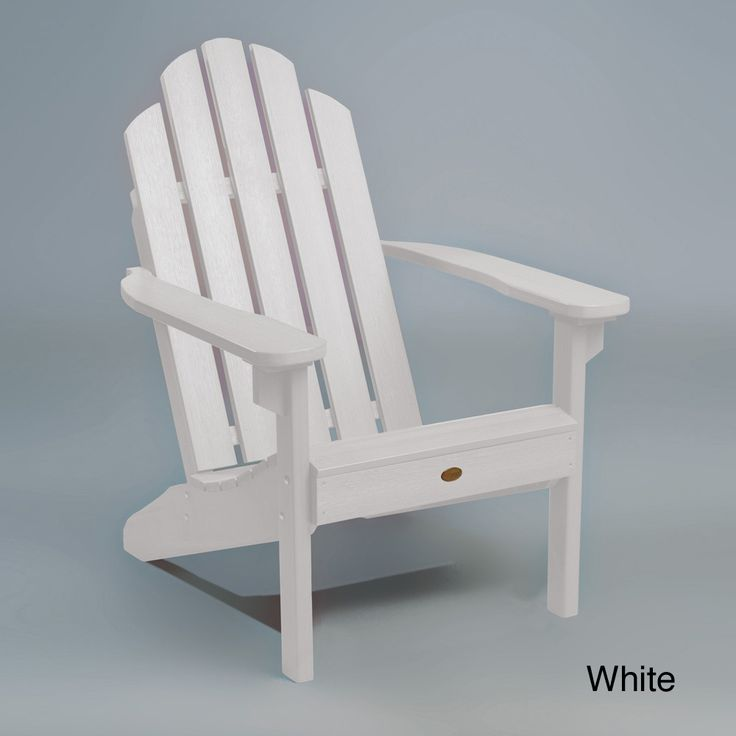 Highwood Eco-Friendly Synthetic Wood Classic Adirondack Beach Chair -  Overstock™ Shopping - Big Discounts on highwood Sofas, Chairs & Sectionals - 103 Best Coastal Furniture & Decor Ideas Images On Pinterest
