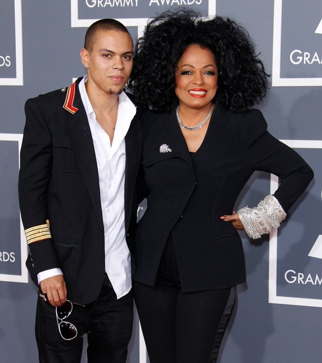 Evan Ross and Diana Ross Mother/Son