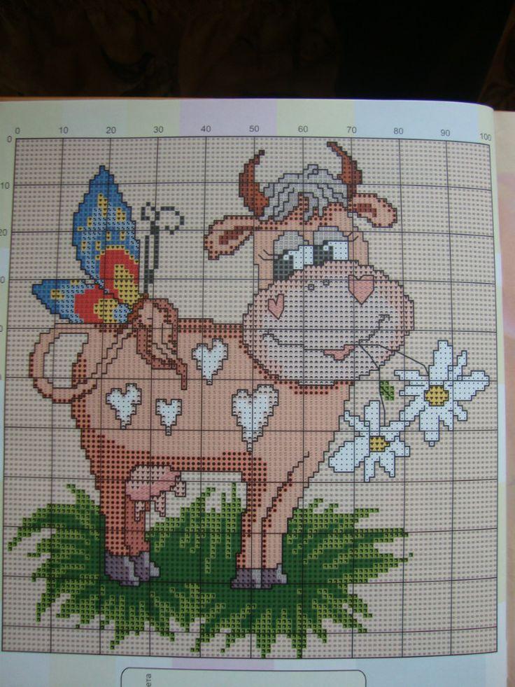 Cross Stitch *<3* Point de croix Vache 2