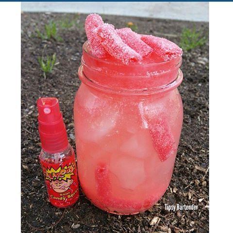 SOUR REVENGE Bottom layer: 1oz vodka 3oz smirnoff ice 1oz lemonade 4 sprays of…