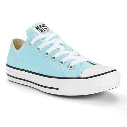 Baby Blue Converse Shoes