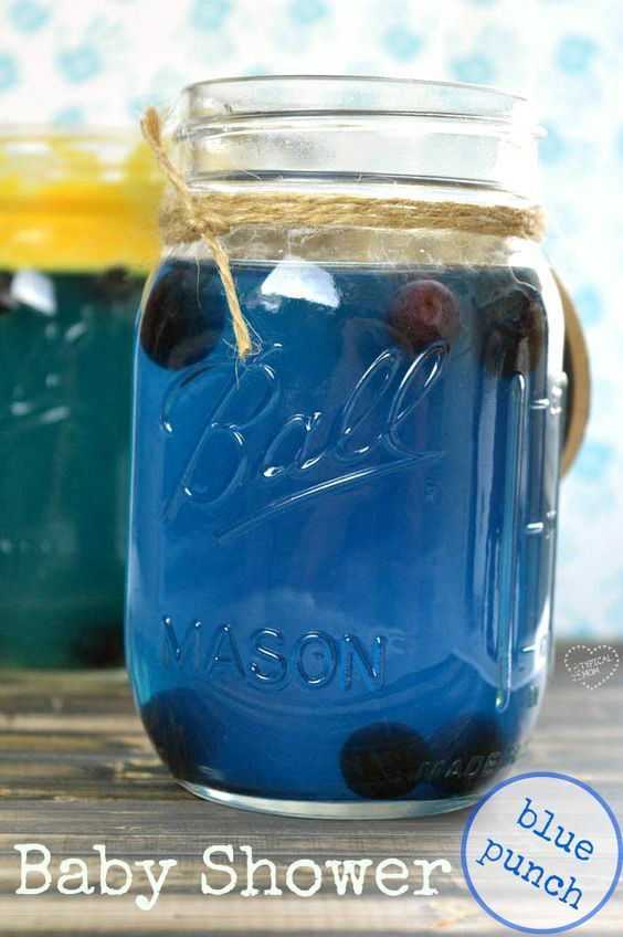 EASY blue punch recipe for a baby shower or just a fun non alcoholic punch recipe for kids that is blueberry blue!!