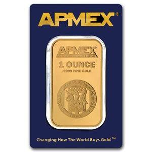 APMEX 1 Ounce Gold Bar .9999 Fine (In Assay) APMEX_1_OZ_GOLD - $2027.21
