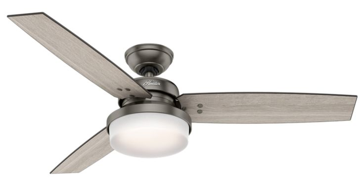 The Sentinel is a casual fan that seamlessly fits into any modern space. The simple, clean lines found throughout the design are paired with premium finish combinations to make for a delightful addition to your home décor. This fan includes LED bulbs and a handheld remote, so you can kick back and enjoy the comfort and beauty of this contemporary classic.