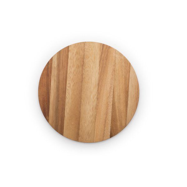 Serve it up. This Circle Prep & Serving Board is 10mm thick, made of beautiful acacia hardwood, and was designed with versatility in mind. It's light enough to use as a serving board and durable enough to use as a light cutting board or trivet, making it functional in a variety of ways. Its smaller size allows for easy storage, so you can free up space with this perfect for everyday use board. Preparation and presentation, all in one.<br/><br/><br> <br&g...