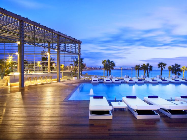 The W Barcelona Iconic 5 Star Hotel Located Right On Beach Front And Shaped Like A Sail