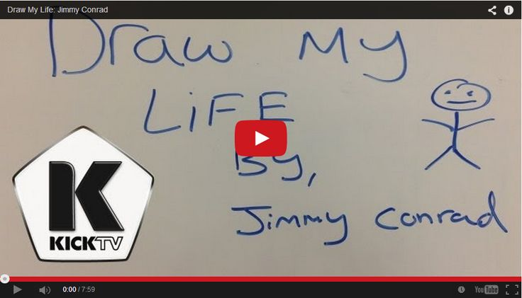 A Truly Inspiring 'Draw My Life'  Featuring Soccer Player Jimmy Conrad - http://www.mustwatchnow.com/truly-inspiring-draw-life-featuring-soccer-player-jimmy-conrad/