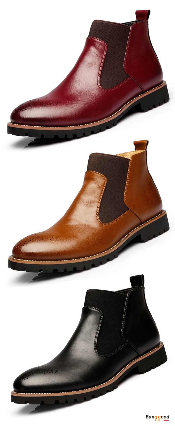 US$54.90 + Free shipping. Men Comfortable Genuine Leather Elastic Band Ankle Boots. US Size:6.5-11. Perfect for FALL/WINTER.#shopping #art #love #style #mens #fashion #casual #shoes #boots #fall #winter #design #guide #ideas #clothes #wardrobe