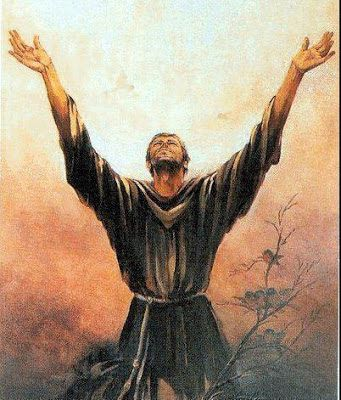 St. Francis devoted himself to the lepers and lived with them, waiting on them all, for the love of God. He washed their feet and bound up their sores, drawing off the puss and wiping them clean. He was extraordinarily devoted to them and kissed their wounds. ~ Bonaventure
