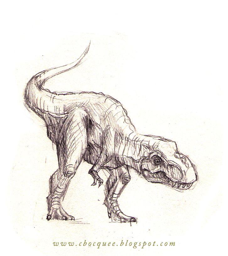Tyrannosaurus Rex pencil sketch