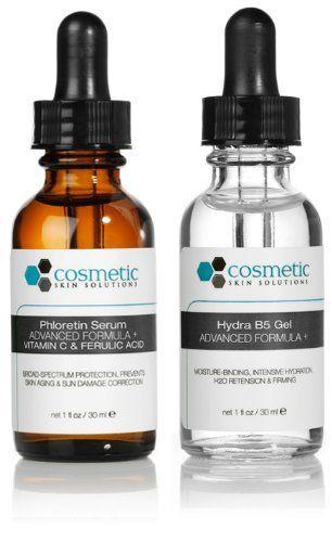Phloretin Serum + Hydra B5 Gel Advanced Formula +. Prevent / Hydrate - 2 Combo Pack - 1 fl oz / 30 ml each by Cosmetic Skin Solutions LLC. $66.95. Phloretin Serum is a Broad-Range premium antioxidant treatment combining 2% Phloretin, 10% L-Ascorbic Acid, and 0.5% Ferulic Acid. This super antioxidant represents a brand new class of preventive and corrective topical antioxidant treatments. The power of Phloretin combined with L-Ascorbic acid and Ferulic acid is a unique formulatio...