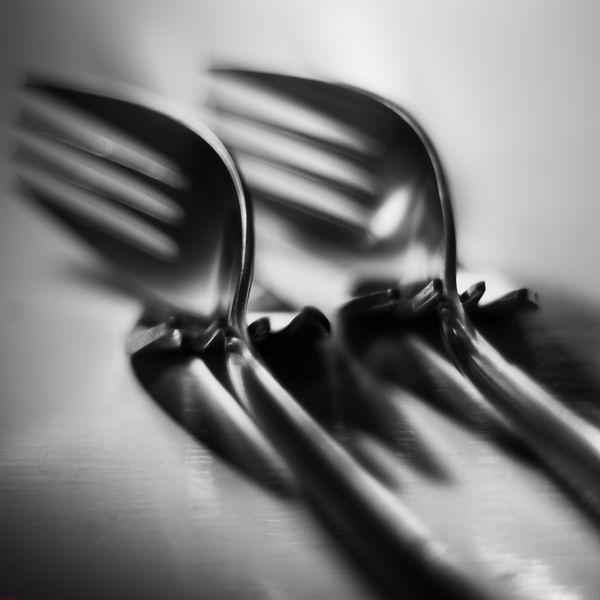 Fork - visual studies - object composition by Attila Kozó - ego-alterego.com