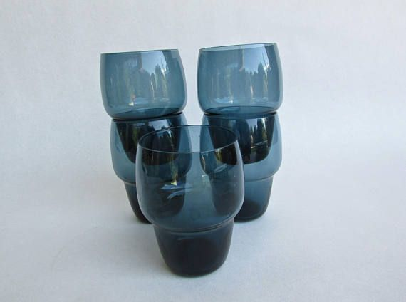 Kjell Blömberg 1962 Cocktail Glasses Gullaskruf Stackable Scandinavian Glass