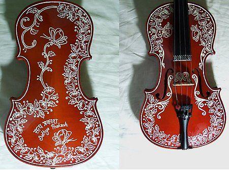 Painted Violin by ~PreetK on deviantART