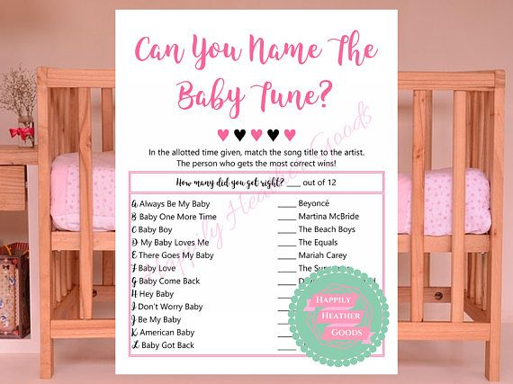 Have fun matching the song lyrics to the artist with these baby tunes!  When you buy 5 or more items, save 20% using the coupon code Save20. With shower items this equates to a free printable!  The light pink watermark across the digital file will not appear on the instant download. PLEASE NOTE THE FOLLOWING: 1) This item is a digital file that you download to print at home or at any store that offers print services 2) You will need to print the game out 3) I highly recommend a thick 8.5x11…