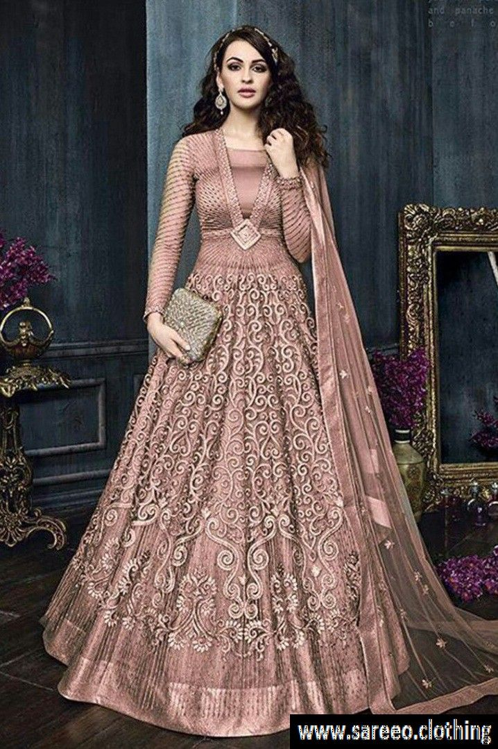 25195f0f1db  ♀ ♀New Designer LAvender Net With Embroidery Work With Long Anarkali Gown‍♀  ♀ . . . Want Discount  Comment Here and Get Personal Discount Code ...