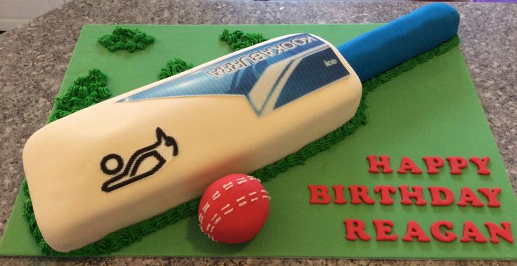 Cricket Bat Cake Images : The 50 best images about Cricket cakes on Pinterest ...