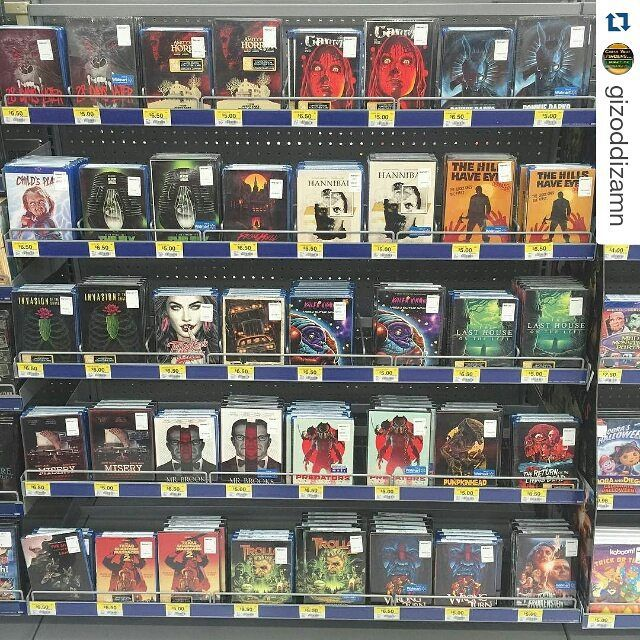 #skuzzles Halloween series 2014 and 2015 wall of #DVD and #BluRay #fox #mgm can you guess any artists or titles? #Repost @gizoddizamn with @repostapp ・・・ why isn't #pumpkinhead on blu ray?