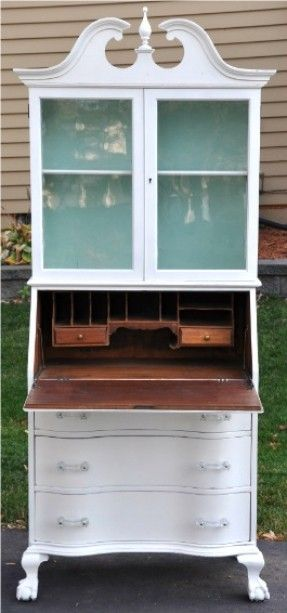 Secretary and Hutch Makeover -- I have 2 of these at home that I need to do something with...