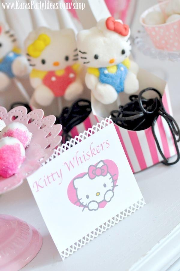 f152fec85 Hello Kitty Birthday Party via Kara's Party Ideas Ideas -kitty whiskers | Hello  Kitty Birthday For Hadley | Hello kitty birthday, Birthday parties, ...