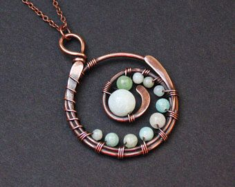 Ocean Wave Pendant, Chinese Jade, Geometric, Seashore, Beach Lover Gift, Jadeite, Sea Foam, Oceanic Gift Ideas, Beach Girl Necklace, Seaside
